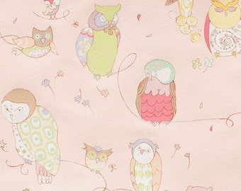 Spotted Owl - Cool Retro Fabric By Alexander Henry - Pale Pink - 9.95 Per Yard