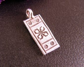 1 Piece Hill Tribe Fine Silver  Picture Pendant 22mm x 9mm