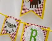 Farm Animals Birthday Garland - Farm Barn Bash Banner- Farm theme Baby Shower - Farm 1st Birthday Party Decorations -