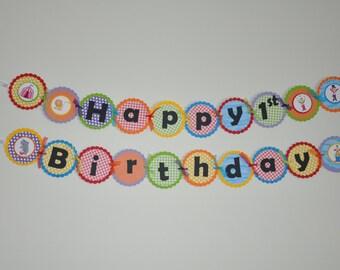 Circus Banner. Happy Birthday Banner. Circus. Carnival. Bigtop.
