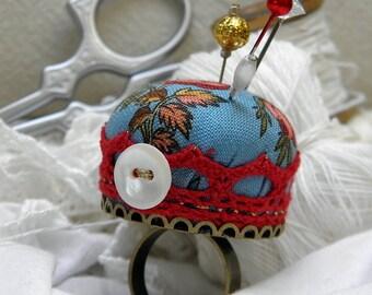 English Roses Pincushion Ring