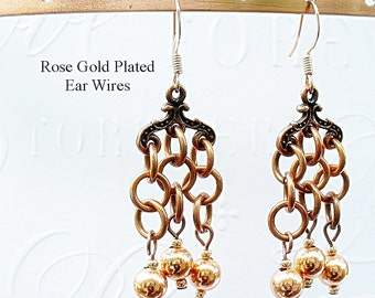 Chandelier Earrings ~  Copper Dangles - Pawn Shop Metal Earrings - E2012-19