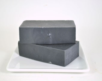 Activated Charcoal with Tea Tree Essential Oil Soap  - 2 Full Bars - All Natural Soap - Spa Soap - Acne Soap - Aromatherapy Soap