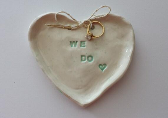 Wedding ring dish heart shaped dish we do trinket dish jewelry for Heart shaped jewelry dish