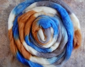 Blueface Top- Mrs Blue Bird   (4 oz or 115 grams) for spinning or felting