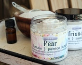Pumice Scrub with Whipped Soap Choose your favorite: LARGE Footsie 8 oz  VEGAN