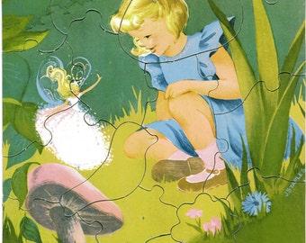 Vintage Puzzle Thumbelisa Thumbelina 10 x 12 Children's  Fairy Tale Puzzle
