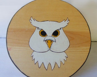 Snow Owl Toy Wooden Shield