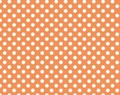 Riley Blake Small Dots Orange, One Yard, Apparel, Quilt Fabric
