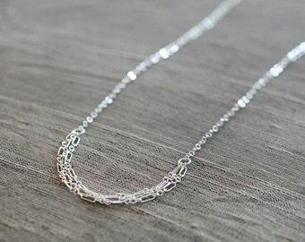 tabula rasa - sterling silver layered necklace