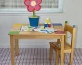 "Splat Mat/Tablecloth ""Plum Paisley Dots"" - Laminated Cotton BPA  & PVC Free - Choose Your Size below!"