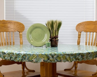 Fitted SQUARE/ROUND Tablecloth - Wipeable & Washable, BPA Free Laminated Cotton - Choose Your Print