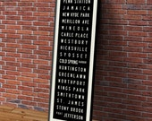Long Island Rail Road Port Jefferson Branch Typographic Bus Roll Subway Art Print 11.75x36