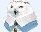 Snowy Owl art print 8x10