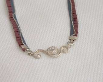 SURF / Sterling silver necklace with rope chain