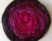 NEW Hand Dyed Mulberry gradient silk roving 2oz Back to Black gradient PRE-order