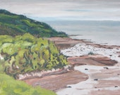 Art Seascape Landscape Oil Painting The Dunes,Tadoussac Quebec, Canada