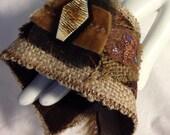 Fabric art cuff bracelet B4