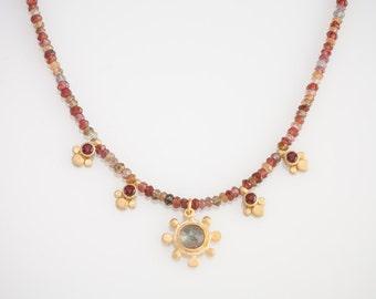 Sunflower Beaded Necklace