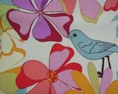 Fabric - Valori Wells, Jenaveve linen, Floral Birds, Garden Fresh - by the yard