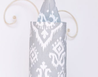 Fabric Plastic Grocery Bag Holder Dispenser Raji Cool Grey Cloth
