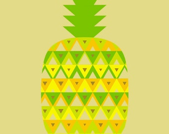 pineapple limited edition print