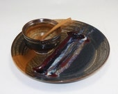 Pottery Chip and Dip Platter