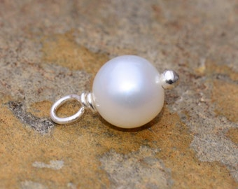 Freshwater 6mm Pearl Charm Drop - Pick Your Own Bulk Pricing