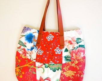 Flowers Patchwork Handmade Bag