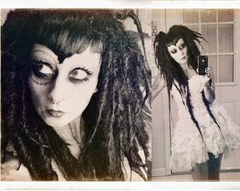Black Vampire Dread Wig, big dread locks, Halloween Costume, Gothic Wig, Cosplay Hair, Tribal Belly Dance