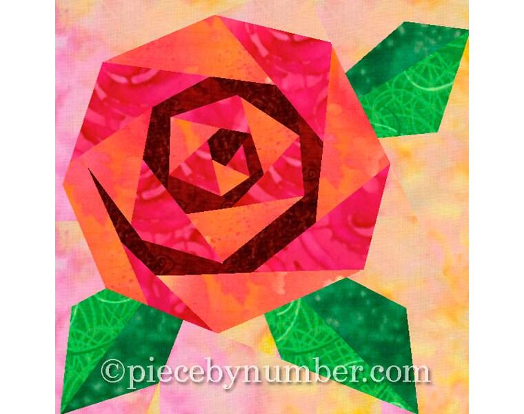 violet flower quilt block paper pieced quilt patterns instant download pdf patterns flower