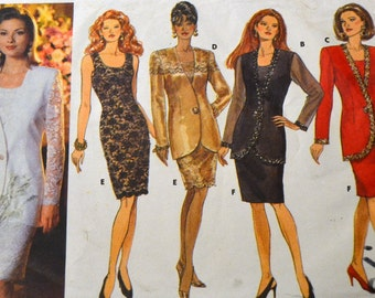 Vintage Sewing Pattern Butterick 6538 Evening Dress  Size 6-8-10 Bust 30 - 32 inches Complete Uncut
