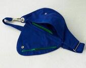 Fanny Pack in Electric Blue Cotton Belt : Bag, Hip Bag
