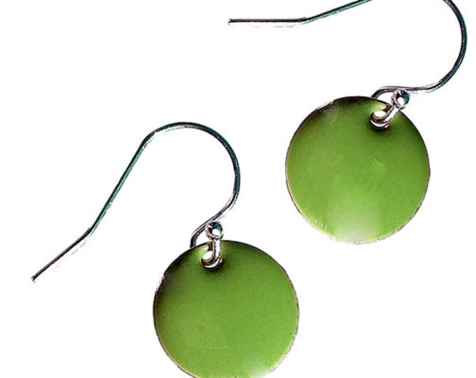 Enamel and Silver Earrings