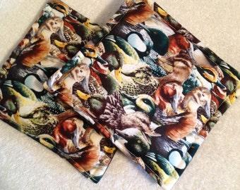 Ducks Galore Print Potholders set of 2