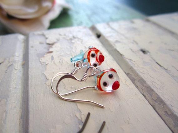 Tiny little blowfish earrings for kids