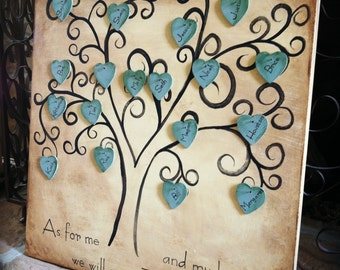 Custom Heirloom Family Tree, Hand Painted, 16x16 inch