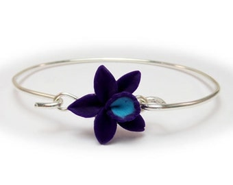Orchid Sterling Silver Bracelet - Orchid Jewelry Collection