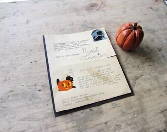 Vintage Hallowen Postcard Set 1930's Antique