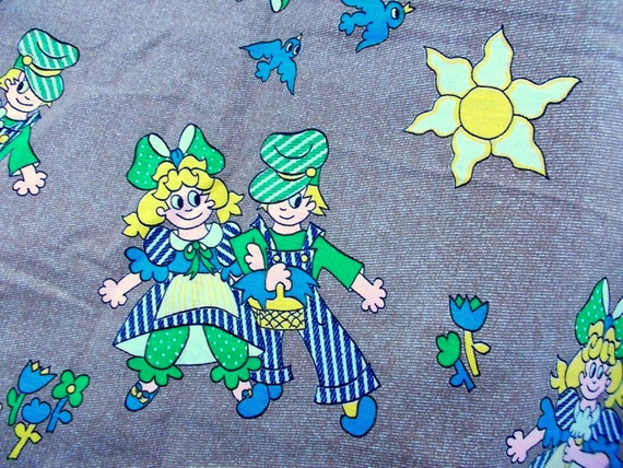 Novelty print cotton fabric funny kids in ticking outfits for Kids print fabric