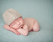 Knit Newborn baby cable hat photography prop
