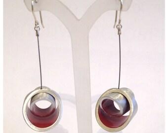 Red Modern Kandinski LM Earrings