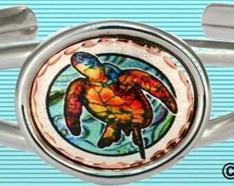 Sea Turtle Bracelet for Turtle Lovers