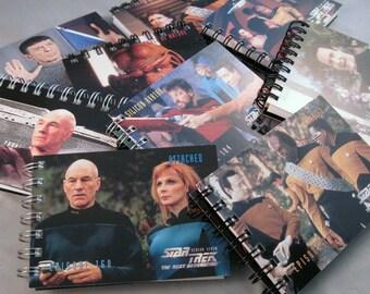 Mini Star Trek Notebooks - Recycled Trading Cards