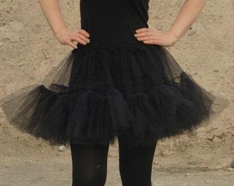 Black tulle skirt, bridal petticoat show skirt, wedding prom 50s pinup tutu ballet underskirt, burlesque skirt, adult tutu, all sizes MASQ