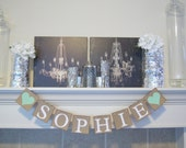 Baby Banner, Name banner,Baby Shower Decor, Birthday banner, Garland Decorations,Birthday party decor,sign,custom colors banner,personalized