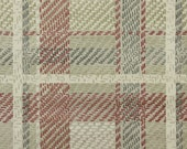 1950's Vintage Wallpaper - Plaid Vintage Wallpaper of Burgundy Gray and Ivory