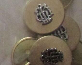 gold design set buttons set  of 8
