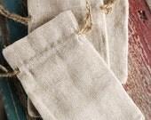 Linen Favor Bags 3x5 - 12 Bags