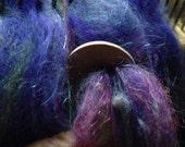 Diz, fiber art tool, spinning, roving, handmade, circular diz, wooden diz